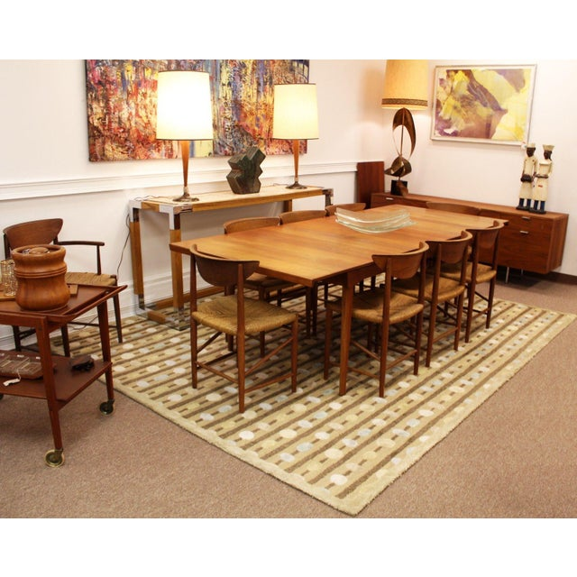 For your consideration is a lovely and unique, rectangle area rug by Karastan Studios. In excellent condition. The...