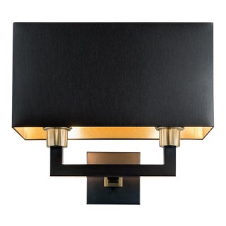 Madison Double Wall Light With Shade For Sale