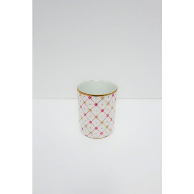 Italian White and Gold Porcelain Vanity Cup by Designer Richard Ginori For Sale In New York - Image 6 of 11