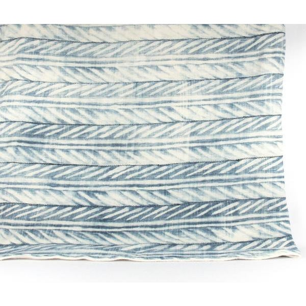Blue African Mud Cloth Throw Blanket - Image 6 of 6