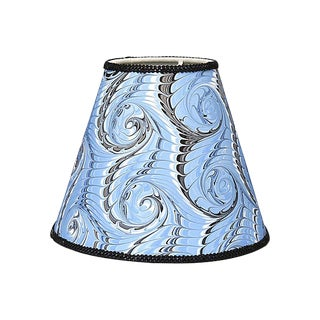 Hand-Marbled Sconce / Boudoir Lampshade For Sale