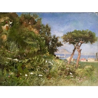 Mt. Vesuvius and the Bay of Naples Painting For Sale