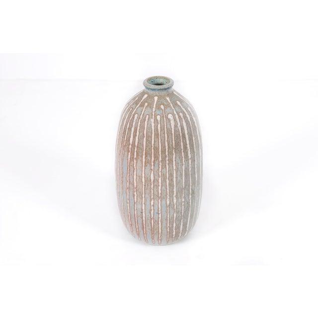 Mid-Century Modern Clyde Burt Ceramic Vase For Sale - Image 3 of 7