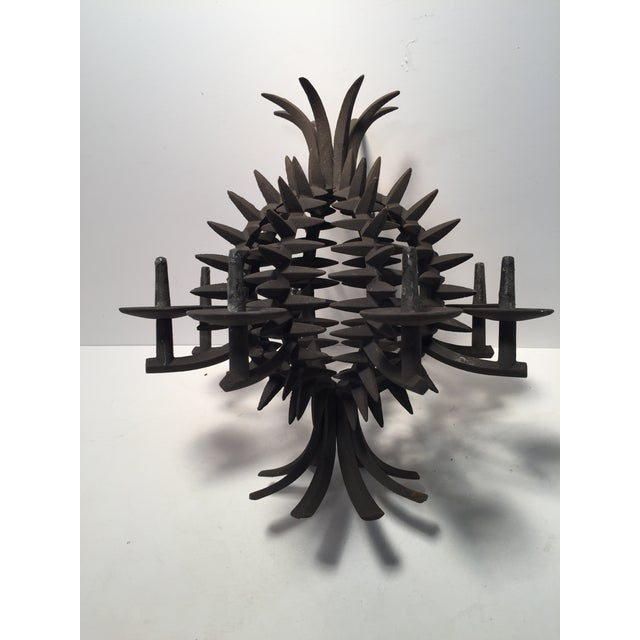 Jens Quistgaard Iron Pineapple Spike Candle Holder For Sale In New York - Image 6 of 8