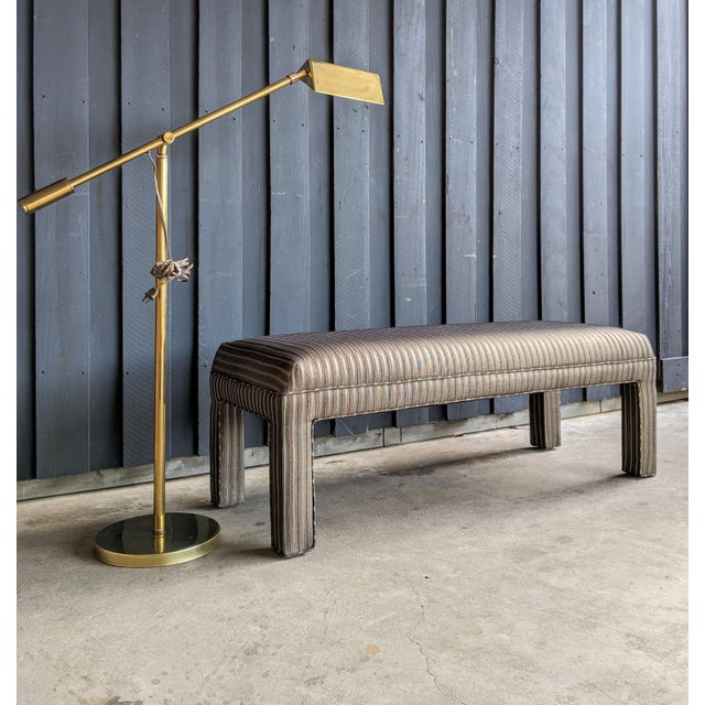 Memphis Group 1980s Contemporary Parsons Bench For Sale - Image 4 of 12