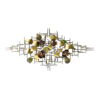 Brutalist Wall-Mounted Sculpture in Mixed Metals For Sale