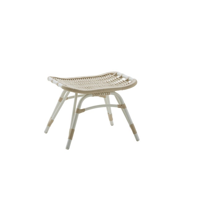 Monet Exterior Foot Stool - Dove White For Sale - Image 4 of 4