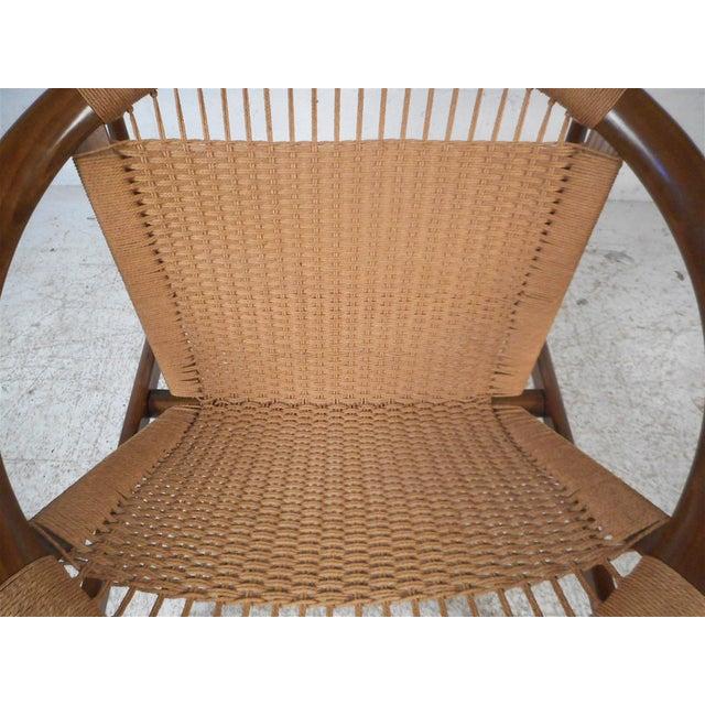 """Wood Danish Modern """"Ringstol"""" Hoop Chair by Illum Wikkelsø For Sale - Image 7 of 12"""