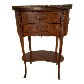 1920s Traditional Kidney Shaped French Side/End Table For Sale