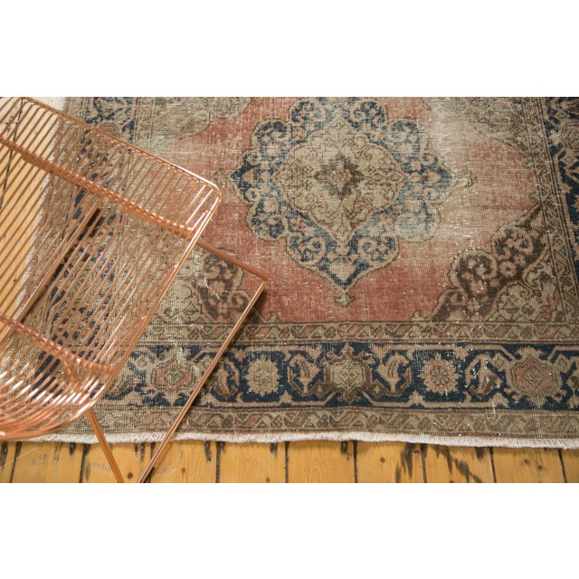 "Islamic Vintage Distressed Oushak Rug Runner - 4'11"" x 13'6"" For Sale - Image 3 of 10"