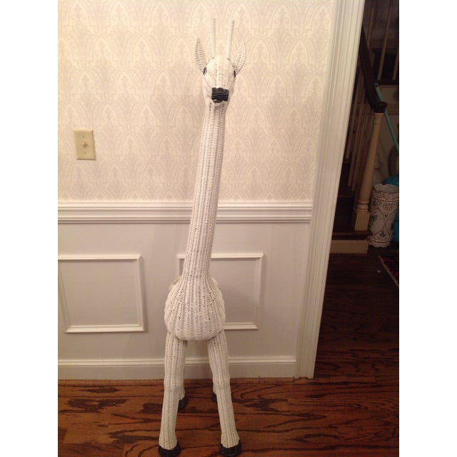 Vintage Wicker Giraffe Planter Animal Statue - Image 7 of 8