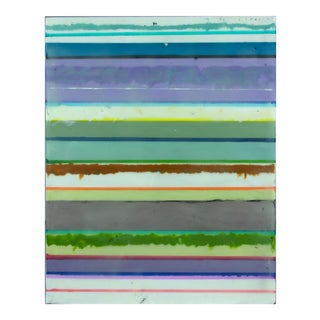 "Original Encaustic Stripes Painting ""Confections No. 37"" by Gina Cochran"