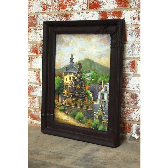 Bohemian Oil Painting of Carlsbad by Bernatova For Sale In San Francisco - Image 6 of 9