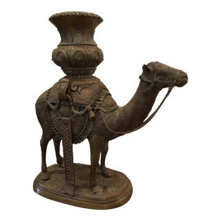 Mediterranean Ornate Traveling Camel Statue For Sale