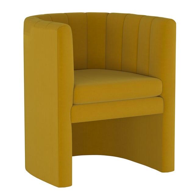 Yellow Barrel Chair, Monaco Citronella For Sale - Image 8 of 8