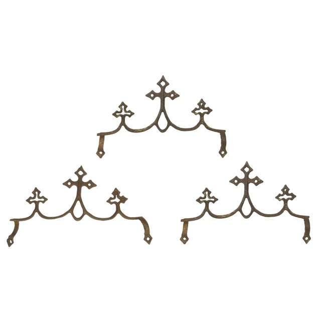 French Fleur de Lys Iron Elements - Set of 3 - Image 1 of 4