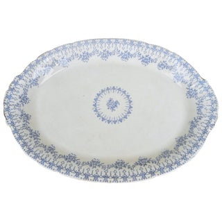Antique 19th Century Transferware China Touraine Platter by Mercer For Sale