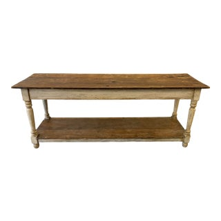 Rustic French Farm Console Sofa Table - 19th C For Sale