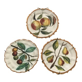 French Faience Decorative Plates - Set of 3