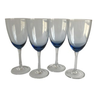 Blue Wine Glasses, Set of 4