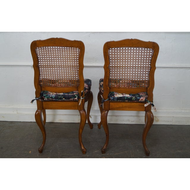 Vintage Carved Walnut Dining Chairs - Set of 4 - Image 4 of 10