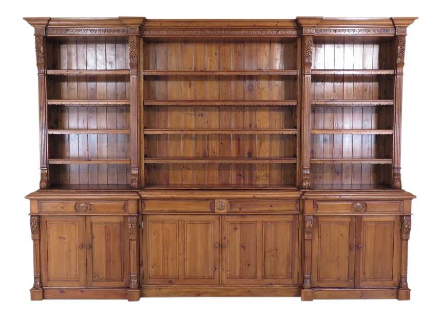 Ordinaire Country French Carved Pine Open Shelf Wall Cabinet For Sale