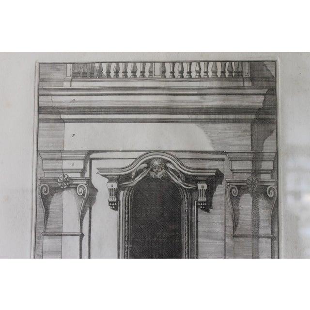 Early 19th Century Antique Finestra Sopra La Porta Architectual Print For Sale - Image 4 of 10