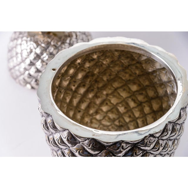 Fabulous Giant Pineapple Silver Box/Ice Bucket Portugal For Sale In West Palm - Image 6 of 10