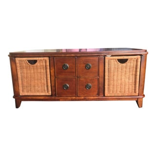 Boho Chic Coffee Table Basket Drawer For Sale
