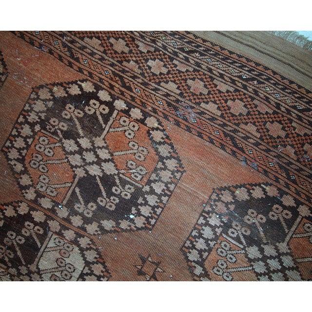 Afghan 1900s handmade antique Afghan Ersari rug 8.6' X 11.8' For Sale - Image 3 of 13