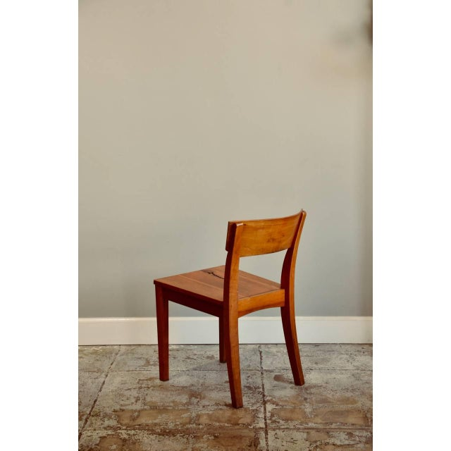 Wood 1990s Vintage Woodworker Studio Chairs- A Pair For Sale - Image 7 of 12