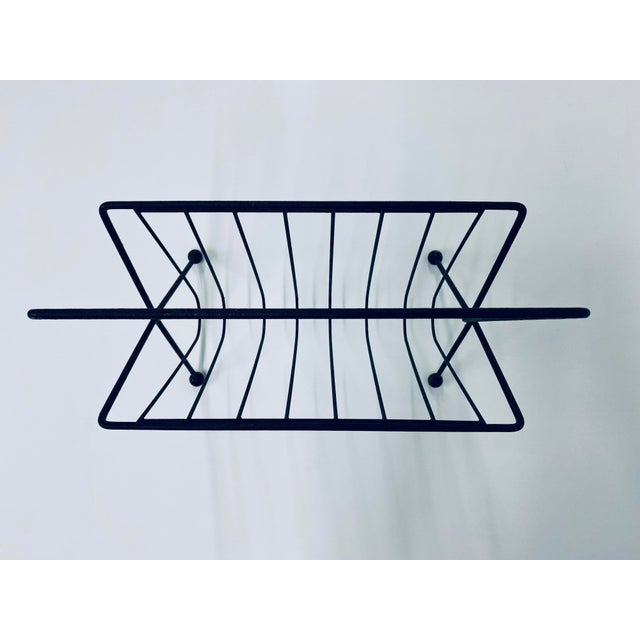 1950s Vintage Tony Paul Steel Wire Magazine Rack For Sale - Image 10 of 12