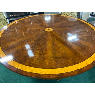 "Traditional John Widdicomb 60"" Round Sunburst Table Preview"