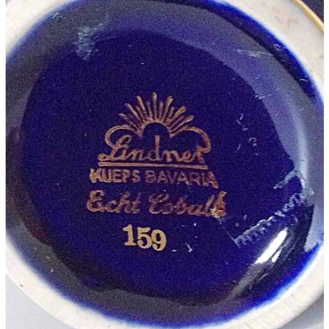 Lindner Bavarian Cobalt Floral Motif Vase - Image 3 of 3