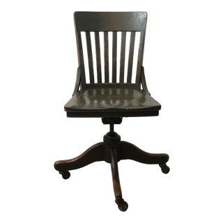 B.L. Marble Chair Co. Green Walnut Swivel For Sale