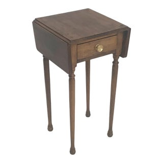 19th Century Diminutive Hand-Crafted New England Pembroke Table For Sale