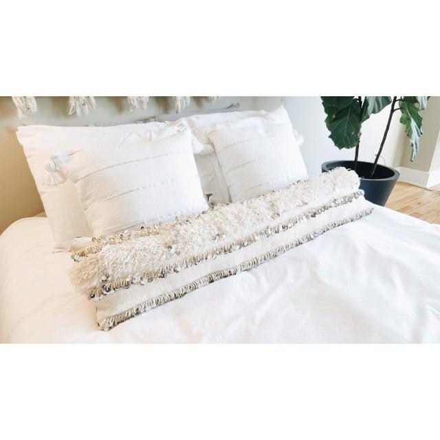Boho Chic Handira Wedding Blanket Body Pillow For Sale - Image 3 of 4