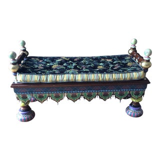 """MacKenzie-Childs """"Ridiculous Bench"""" For Sale"""