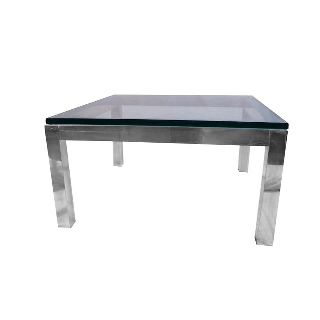 e9c00aa00d9fb Mid-Century Modern Mid Century Modern Chrome   Glass Coffee Table Milo  Baughman Style For