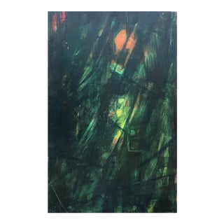 Mid-Century Modern Abstracted Forest Scene, 1950s For Sale