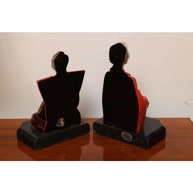 Beautiful Pair of Art Deco Cubist Bookends by Bouret For Sale In New York - Image 6 of 10