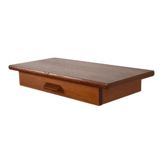 Danish Teak Floating Wall-Hung Shelf/Drawer For Sale