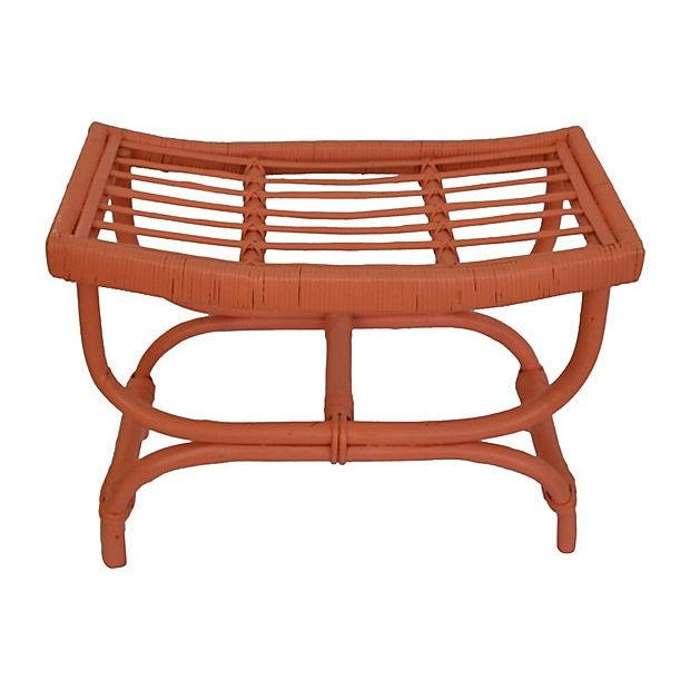 Coral Rattan Stool - Image 2 of 5