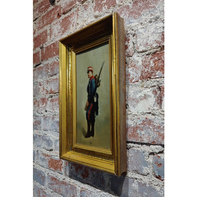 Blue Edouard Jean Baptiste Detaille -Napoleonic Soldier -Oil Painting C.1870s For Sale - Image 8 of 11