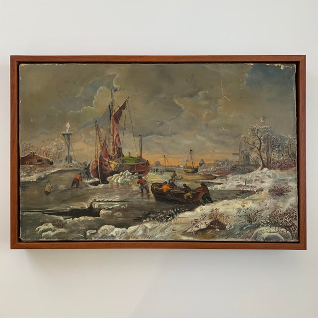 1887 Antique C. Johnson Oil on Canvas Painting For Sale - Image 12 of 12