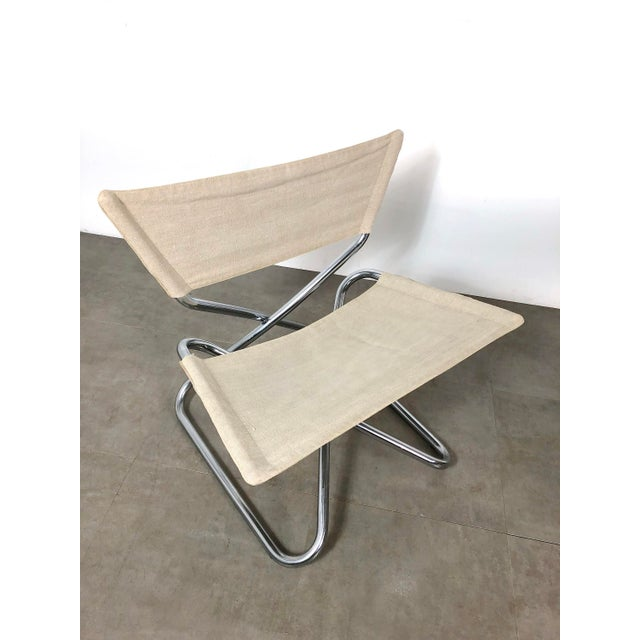 Danish Modern 1960s Erik Magnussen Chrome Sling Z Down Chairs - a Pair For Sale - Image 3 of 8