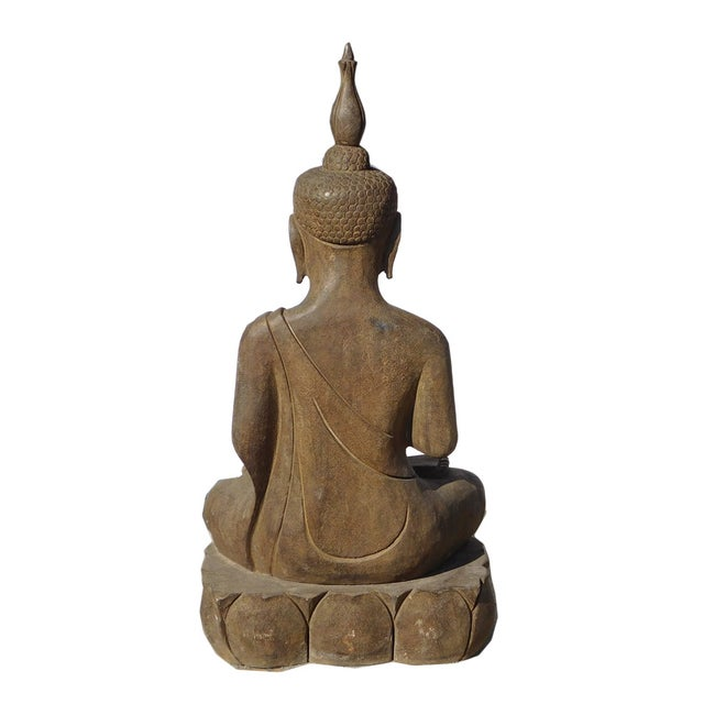 Asian Buddha Meditation Statue - Image 5 of 6