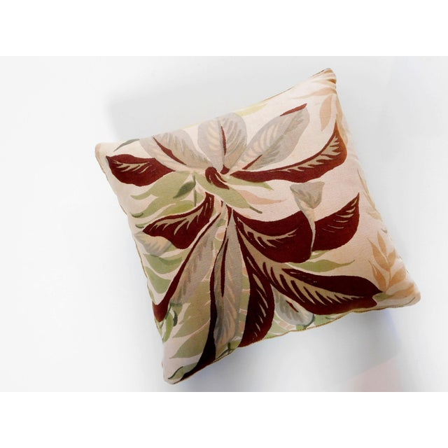 Add a botanical feel to any room with this sweet pillow. Features a zipper for easy removal. Has a cotton front with a...