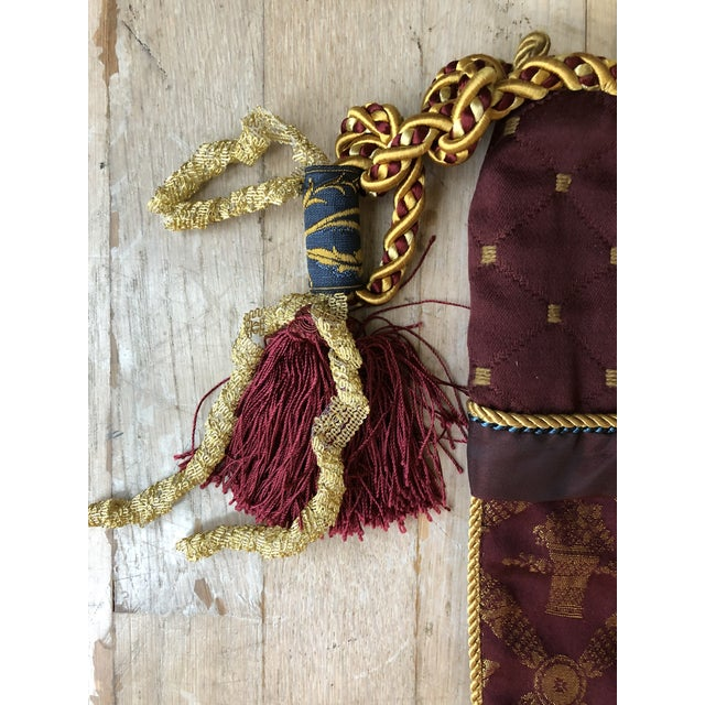 American Christmas Stocking with Gold Lion on Cuff For Sale - Image 3 of 5