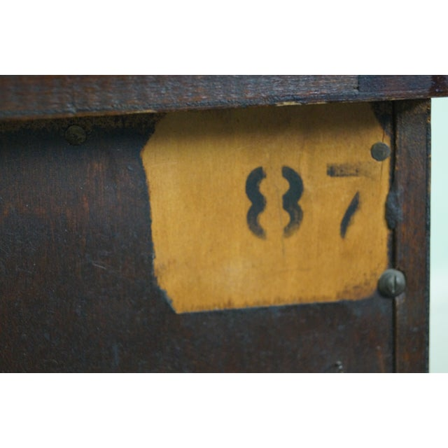 1940s Chippendale Mahogany Nightstands - Pair - Image 8 of 10